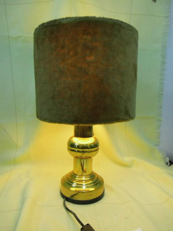 Tischlampe mit Fuß aus Messing / ruf design / 1970er Jahre / Restaurationsobjekt