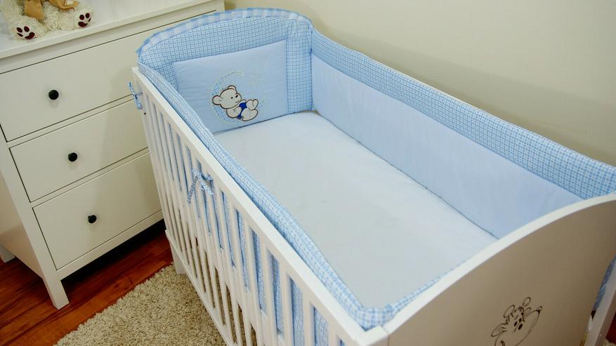Bild 4: Bettumrandung Bettschlange Nestchen 360x30 Babyzimmer Bettnestchen Knotenkissen