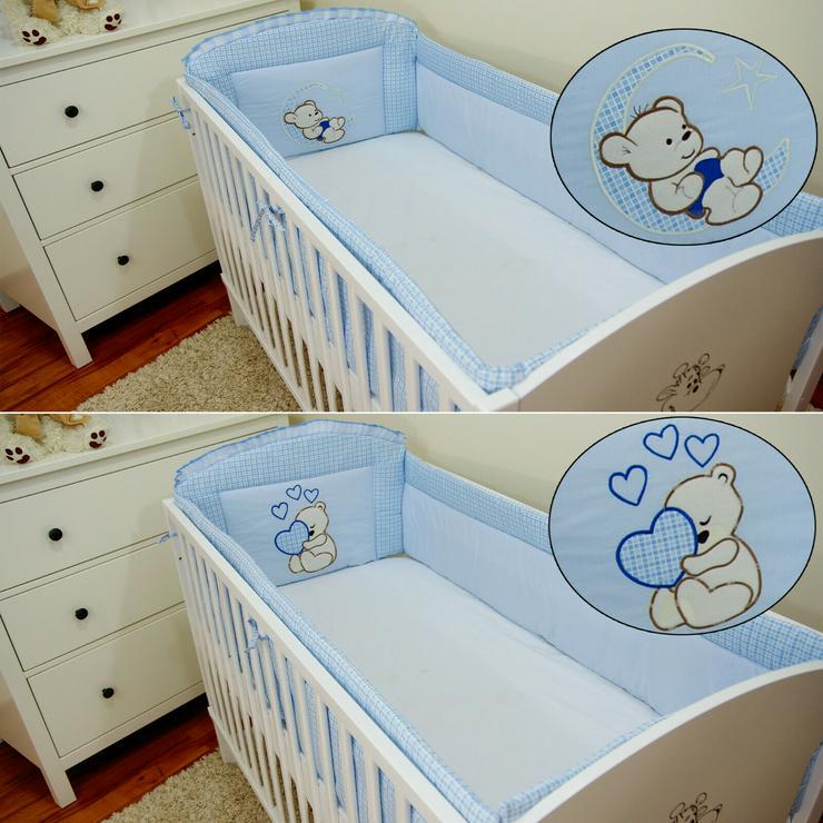 Bild 1: Bettumrandung Bettschlange Nestchen 360x30 Babyzimmer Bettnestchen Knotenkissen