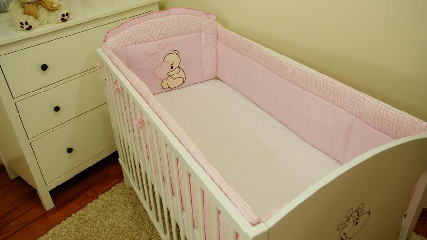 Bild 7: Bettumrandung Bettschlange Nestchen 360x30 Babyzimmer Bettnestchen Knotenkissen
