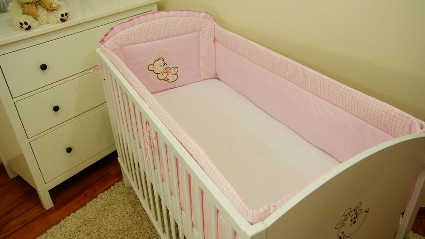 Bild 6: Bettumrandung Bettschlange Nestchen 360x30 Babyzimmer Bettnestchen Knotenkissen