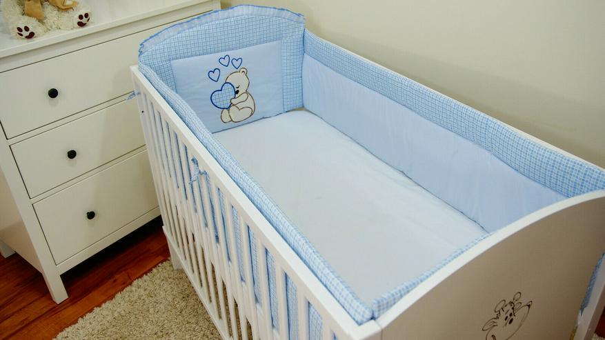 Bild 5: Bettumrandung Bettschlange Nestchen 360x30 Babyzimmer Bettnestchen Knotenkissen