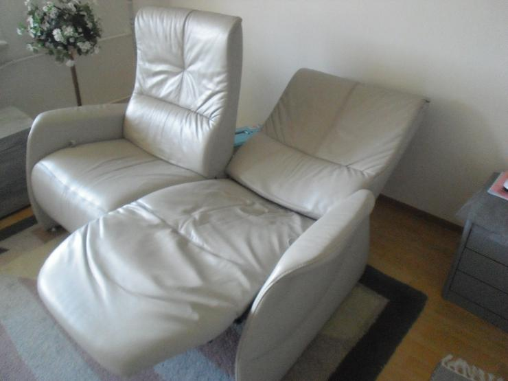 Bild 5: 2-sitziges Relax-Funktionssofa aus Longlifeleder hellgrau, Marke Himolla