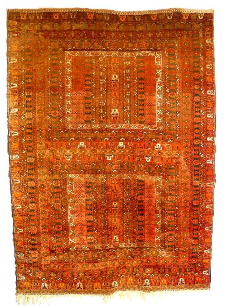 Orientteppich Engsi Hatschlu Salor 18/19 Jhdt. (T070) - Fliesen & Teppiche - Bild 1