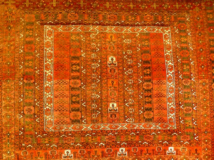 Bild 2: Orientteppich Engsi Hatschlu Salor 18/19 Jhdt. (T070)