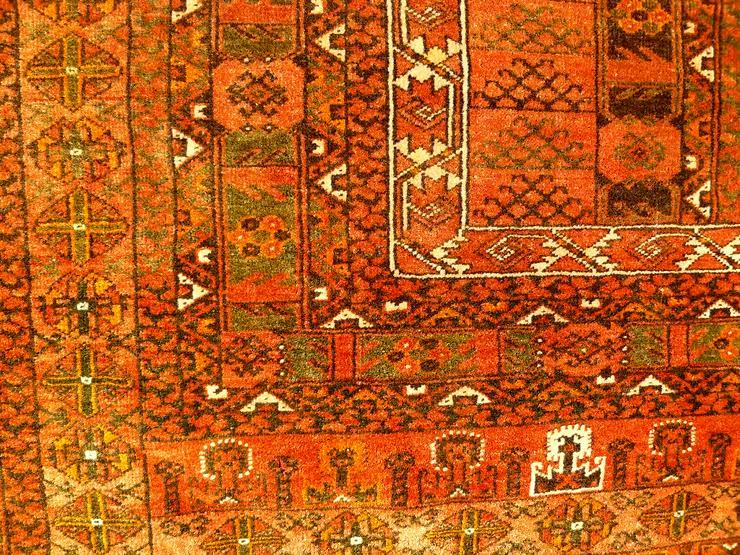 Bild 6: Orientteppich Engsi Hatschlu Salor 18/19 Jhdt. (T070)