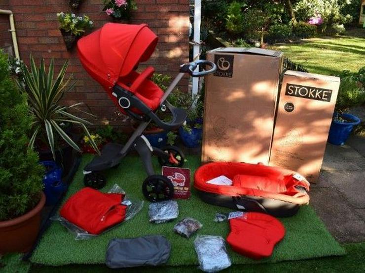 3 in 1 Stokke Xplory V5 Kinderwagen mit Neugeborenen Tragetasche zu verkaufen