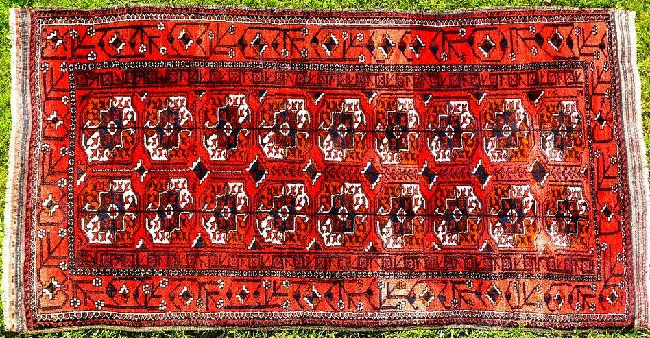 Orientteppich Belutsch antik 186x98 (T072) - Fliesen & Teppiche - Bild 1