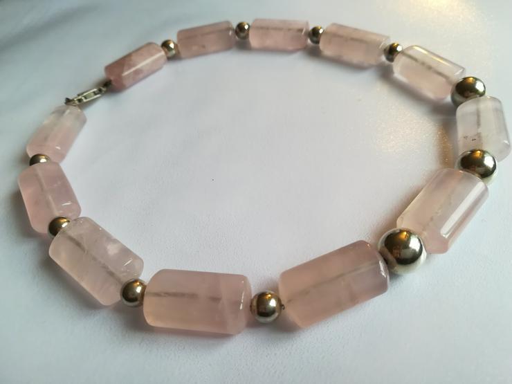 Bild 2: Halskette rose Quarz und Silber