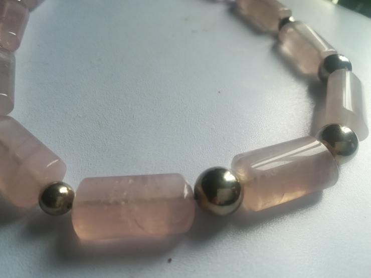 Bild 4: Halskette rose Quarz und Silber