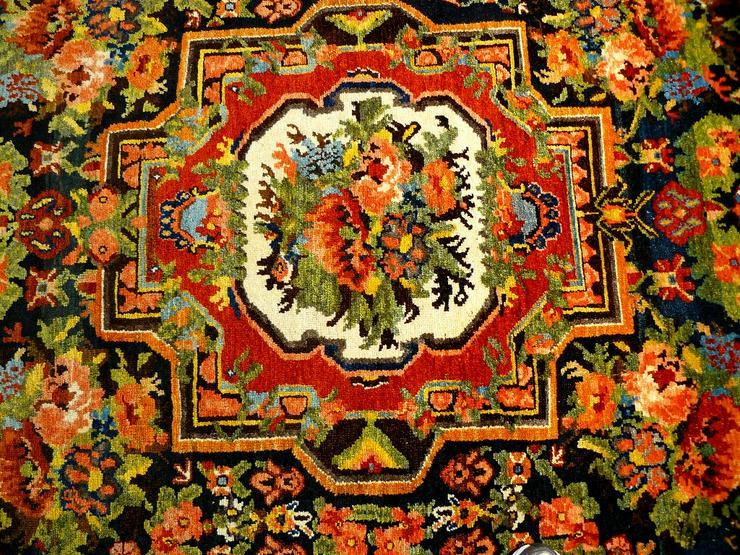 Bild 2: Orientteppich  Senneh 18/19 Jh. (T075)