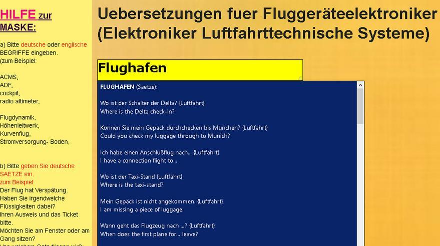 Bild 4: Woerterbuch Luftfahrt-Begriffe/ Texte: Flugzeug-Dokumentationen uebersetzen