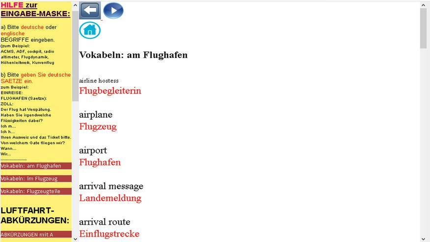 Bild 3: Woerterbuch Luftfahrt-Begriffe/ Texte: Flugzeug-Dokumentationen uebersetzen