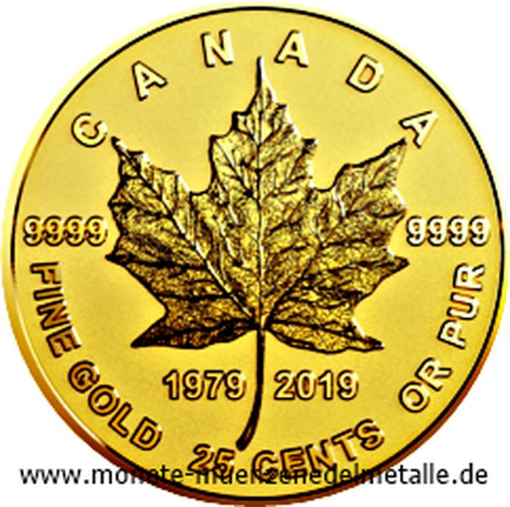 Kanada 25 Cent 40 Geburtstag Mape Leaf 2019 Gold Münze