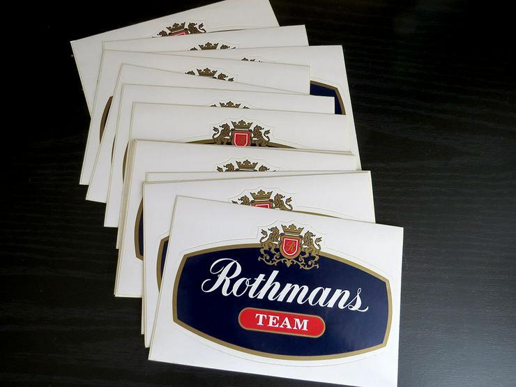 """15 Aufkleber """"Rothmans TEAM"""" 80'er Jahre"""