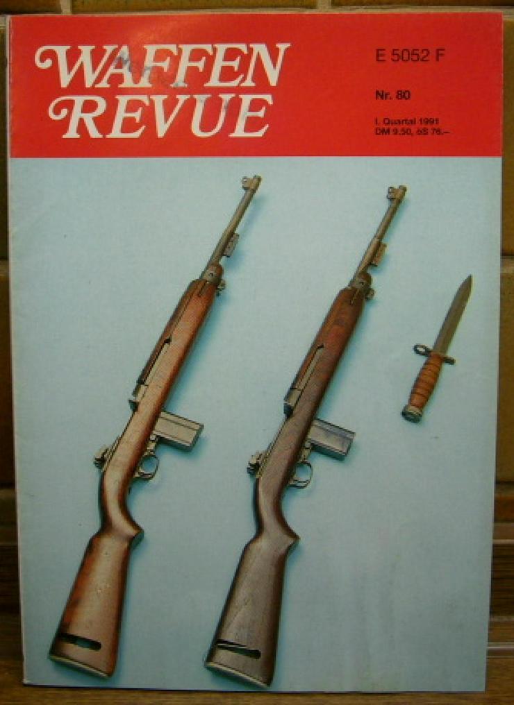 """Bild 1: """"WAFFEN REVUE"""" Nr. 80, viele Artikel, Fotos u. Zeichnungen, Titel-Artikel: U.S.-Karabiner .30 M1 Carabine"""