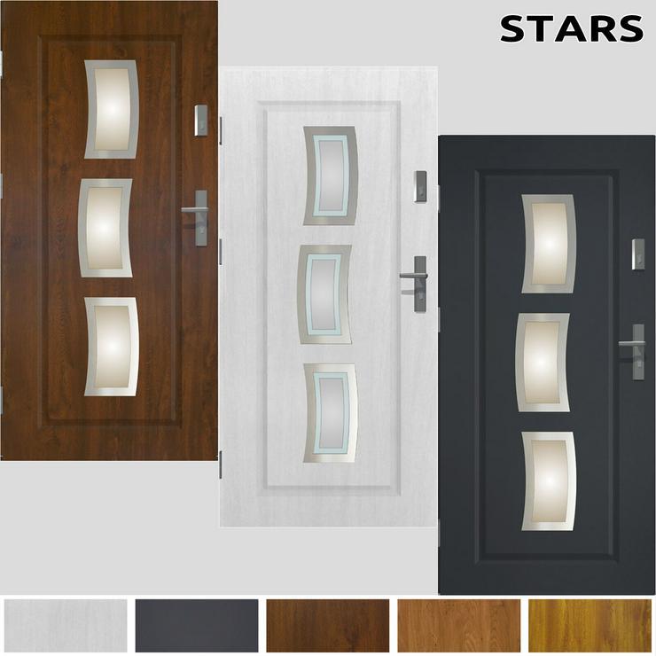 Tür Prime55 Stars Haustür Eingangstür Stahltür 80/90/100 Wohnungeingangstür - Türen - Bild 1