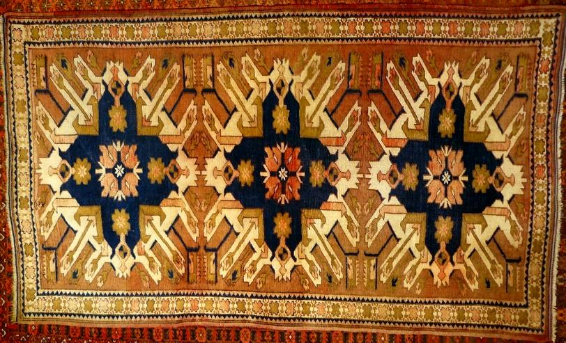 Orientteppich Adler-Kazak antik 190x111 (T077)