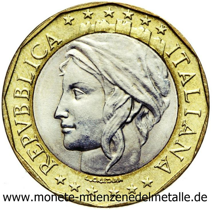 Bild 3: Italien 2 Stück 1000 Lire Europakarte Fehlprägung und ohne Fehlprägung