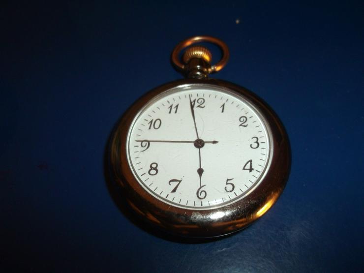 THU-02 Taschenuhr Sprungdeckel Uhr Herrenuhr Pocket Watch Fisch