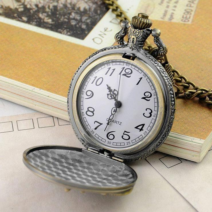 Bild 3: THU-05 Taschenuhr Sprungdeckeluhr Herrenuhr Pocket Watch London, Big Ben, Uhr