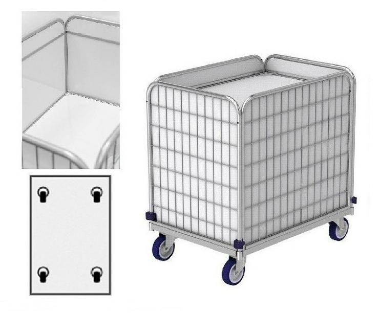 Federbodenwagen (Transportwagen) für Wäschelogistik. Modell ML 8661-0.9