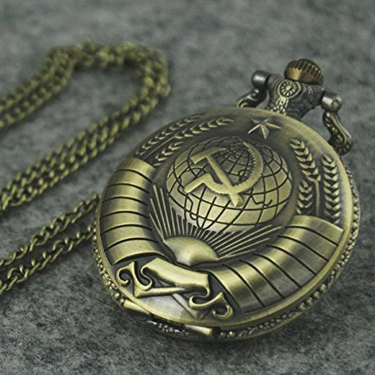 .THU-06 Taschenuhr UDSSR Russian Hammer & Sichel Pocket Watch Sprungdeckeluhr