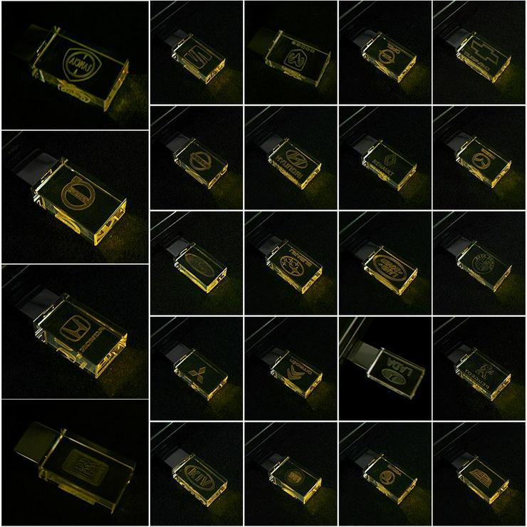 USB-STICK Auto-Logo in Gelben LED-Licht USB 2.0 8GB bis 64GB *NEU*