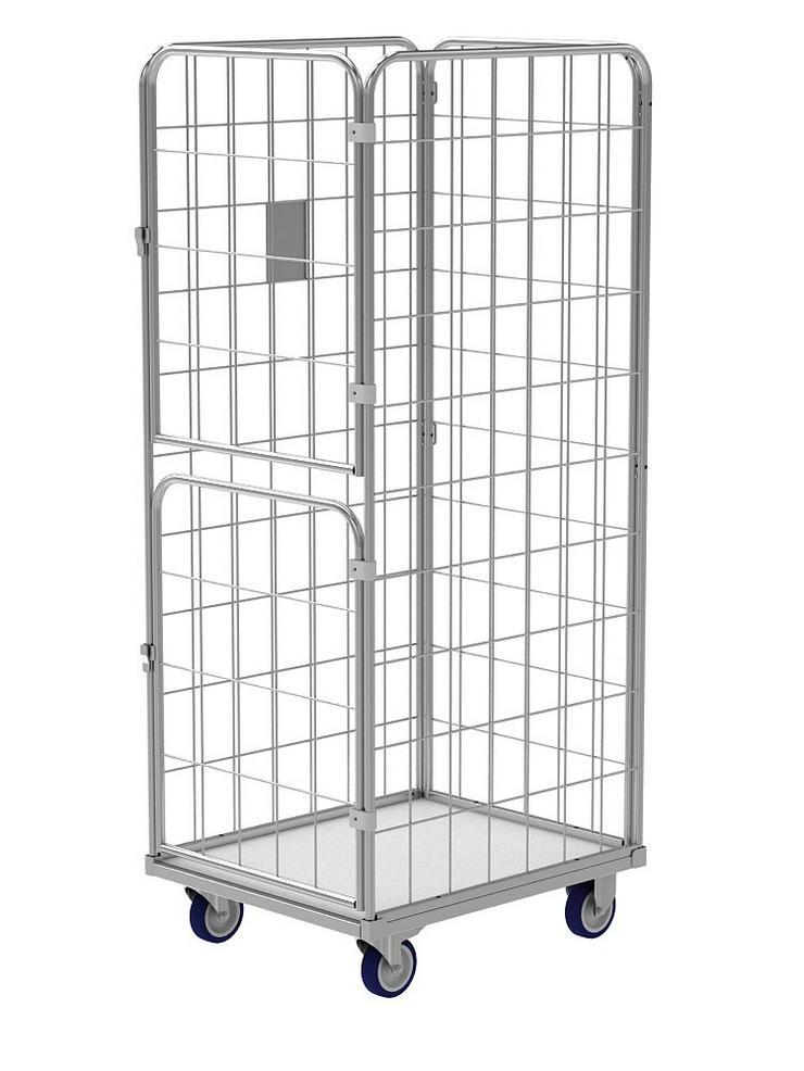 Gitter Rollcontainer mit 2 drehenden Türen für Wäschelogistik (Wäschereien, Krankenhäusern, Hotels u.a.). - Weitere - Bild 1