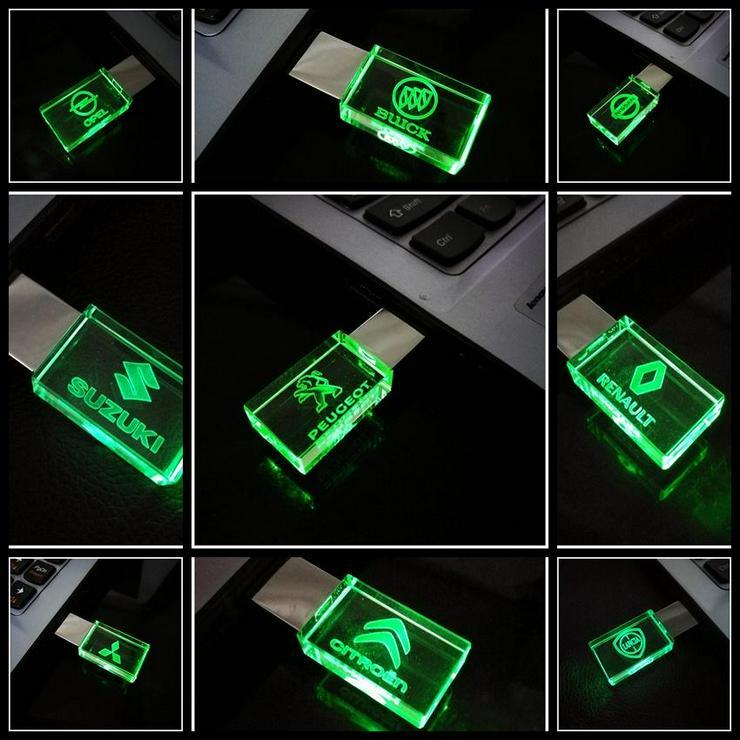 USB-STICK Auto-Logo in Grünen LED-Licht USB 2.0 8GB bis 64GB *NEU*