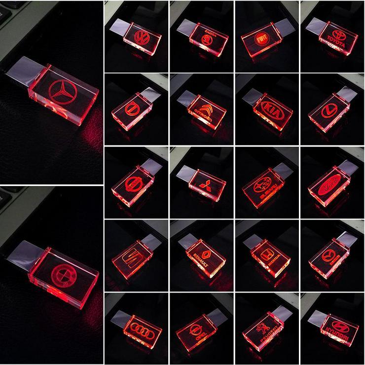 Bild 1: USB-STICK Auto-Logo in Rotem LED-Licht USB 2.0 8GB bis 64GB *NEU*