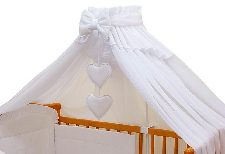 Bild 2: Moskitonetz Breite 590cm + Stellage Babyzimmer Bettausstattung Bettset 3 Farben