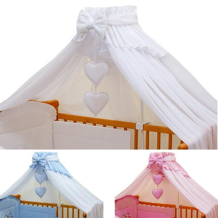 Moskitonetz Breite 590cm + Stellage Babyzimmer Bettausstattung Bettset 3 Farben