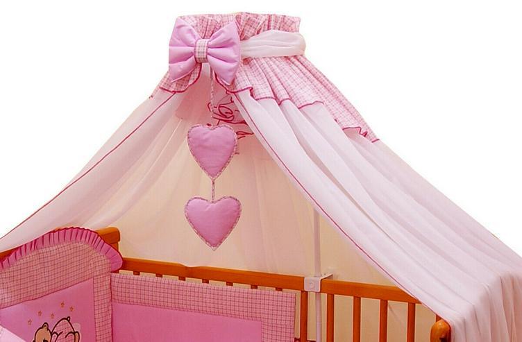 Bild 4: Moskitonetz Breite 590cm + Stellage Babyzimmer Bettausstattung Bettset 3 Farben