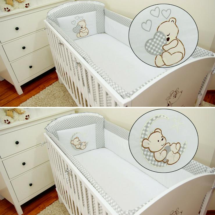 Nestchen 420x30 Bettumrandung Babyzimmer Bettnestchen Bettschlange Knotenkissen