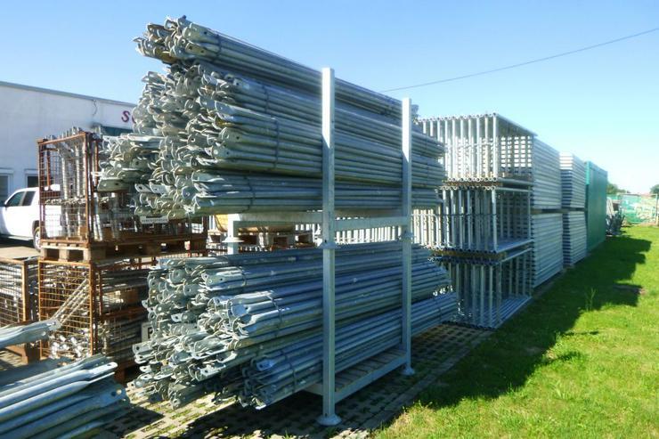 Bild 5: 510m² MJ Gerüst Uni 70 Wandgerüst Fassadengerüst Baugerüst top Zustand und Plettac kompatibel