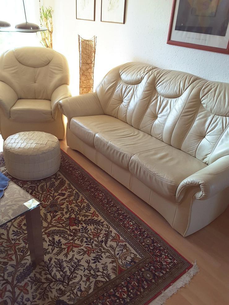 Ledercouch mit Sessel Se