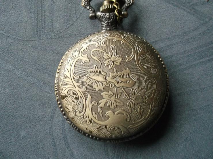 Bild 2: THU-08 Taschenuhr Sprungdeckeluhr Herrenuhr Pocket Watch Eiffelturm Bronze