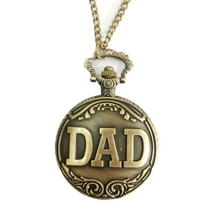 THU-09 Taschenuhr Sprungdeckeluhr Herrenuhr Uhr Pocket Watch DAD Uhr Bronze