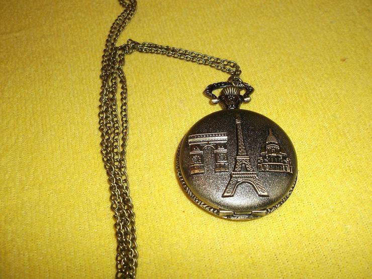 THU-11 Taschenuhr Sprungdeckeluhr Herrenuhr Uhr Pocket Watch Eiffelturm Paris