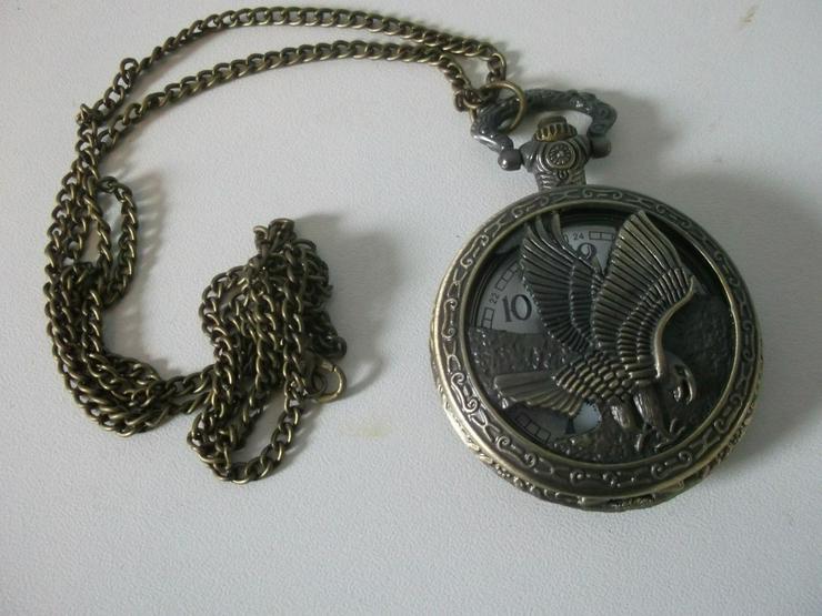 THU-12 Taschenuhr Sprungdeckeluhr Herrenuhr Uhr Pocket Watch Adler Eagle
