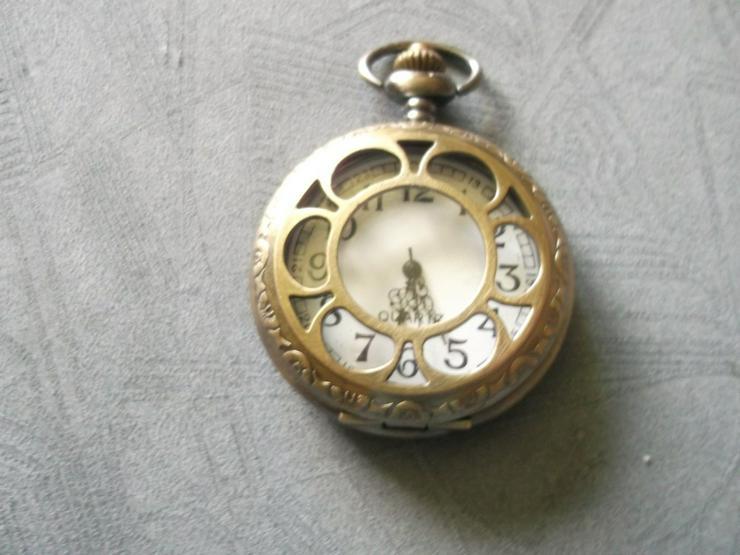 THU-16 Taschenuhr Sprungdeckeluhr Herrenuhr UHR Open Hohl Pocket Watch