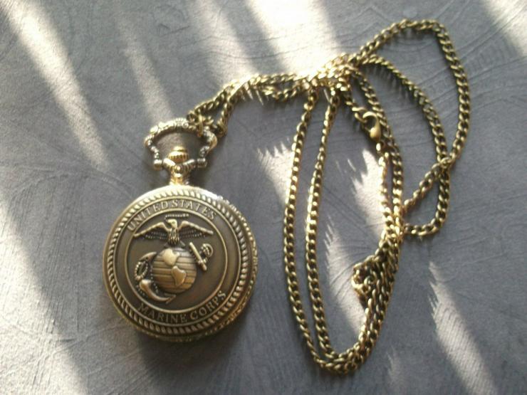 THU-21 Taschenuhr United States Marine Corps Spungdeckeluhr USMC Herrenuhr Uhr