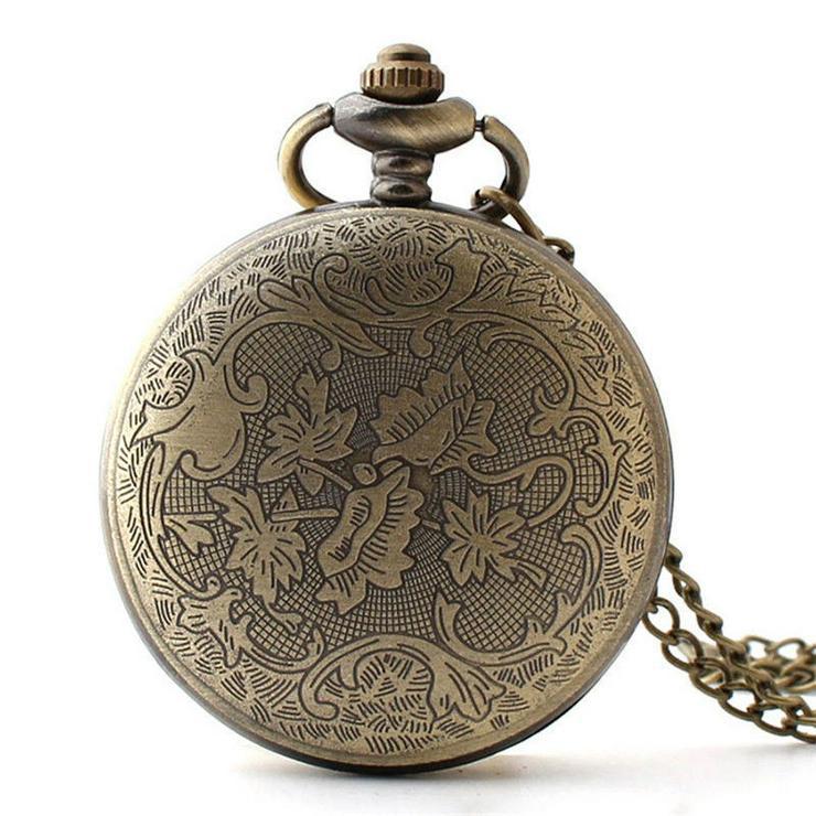 Bild 2: THU-23 Taschenuhr Sprungdeckeluhr Herrenuhr Pocket Watch Hirsch, Rehe, Wild Jagt