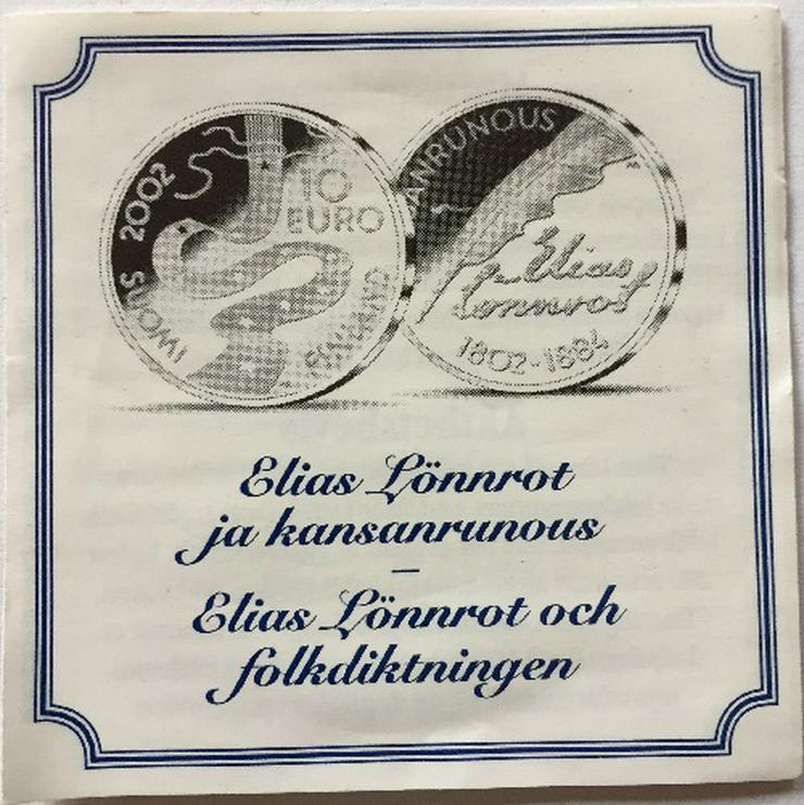 Bild 3: Finnland 10 Euro Gewobenes Band 2002 Silber münze
