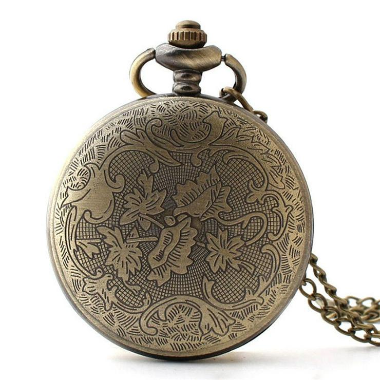 Bild 2: THU-24 Taschenuhr Sprungdeckeluhr Herrenuhr Pocket Watch Pferde Pferd Horses