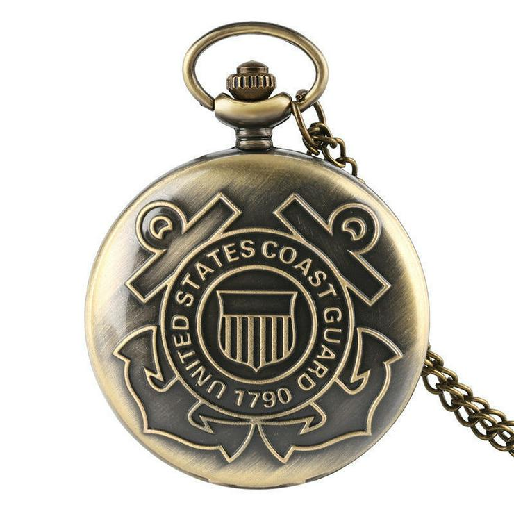 THU-03 Taschenuhr, Spungdeckeluhr, Herrenuhr, Pocked Watch US Coast Guard 1790