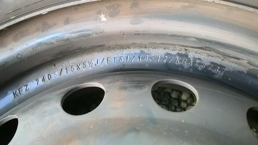 Bild 4: 4x Winterreifen mit Stahlfehlgen 185/60R 15 Michelin Alpin A4 zu verkaufen