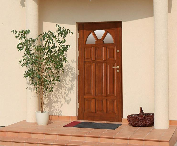 Bild 2: Holzaußentüren DZ4/DZ41 Haustür Eingangstür Holztür 60/70/80/90/100 6 Farben