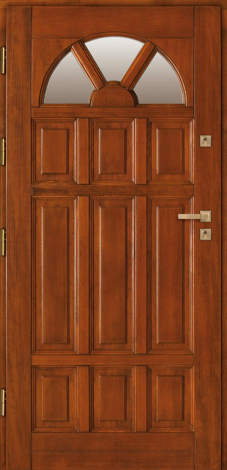 Bild 4: Holzaußentüren DZ4/DZ41 Haustür Eingangstür Holztür 60/70/80/90/100 6 Farben